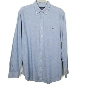 Vineyard Vines slim fit tucker shirt | light blue